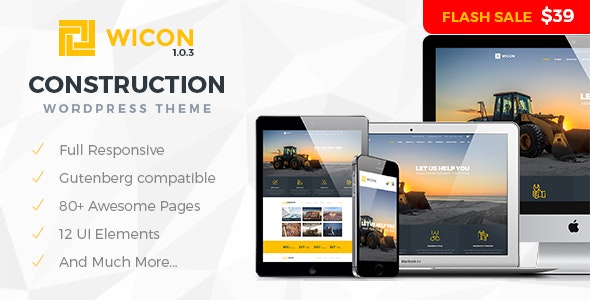 Wicon | Construction & Building WordPress Theme - Business Corporate
