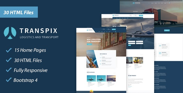 Transpix - Transport, Logistics & Warehouse HTML Template - Business Corporate