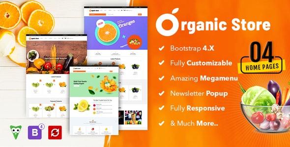 Organic Store Multipurpose  E-Commerce Bootstrap HTML5 Template - Food Retail