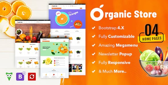Organic Store Multipurpose  E-Commerce Bootstrap HTML5 Template nulled theme download