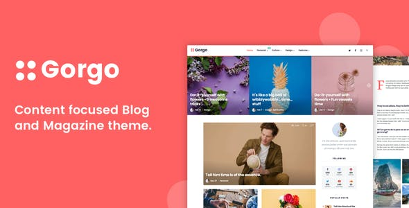 Gorgo - Minimal Content Focused Blog and Magazine nulled theme download