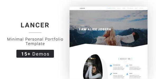 Lancer - Jekyll Minimal Personal Portfolio Template nulled theme download