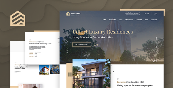 Hompark | Real Estate & Luxury Homes Theme - Corporate WordPress