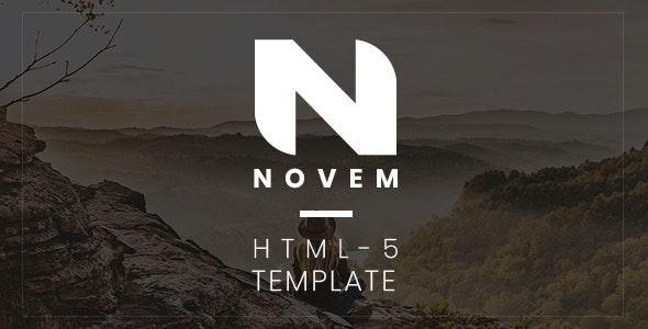 Novem - Creative Portfolio HTML5 Template - Creative Site Templates