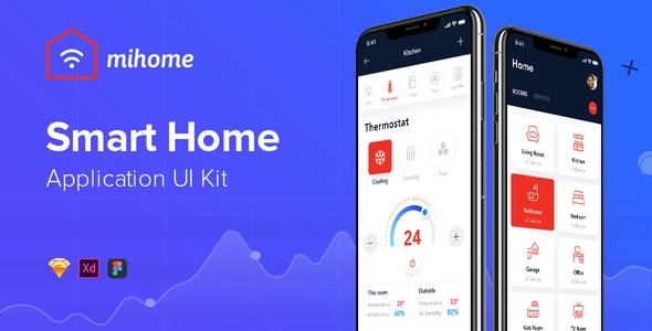 MIHOME - Smart Home UI Kit - Creative Sketch