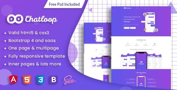 Chatloop - Angular 8 App Landing Page - Software Technology