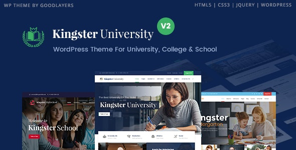 Kingster - Education WordPress For University, College and School - Education WordPress