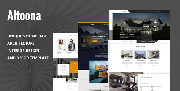 Altoona - Architecture & Interior Design HTML Template - Business Corporate