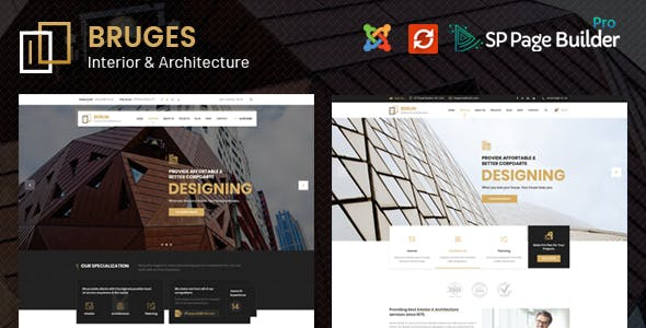 Bruges - Architecture & Interior Design Joomla Template nulled theme download