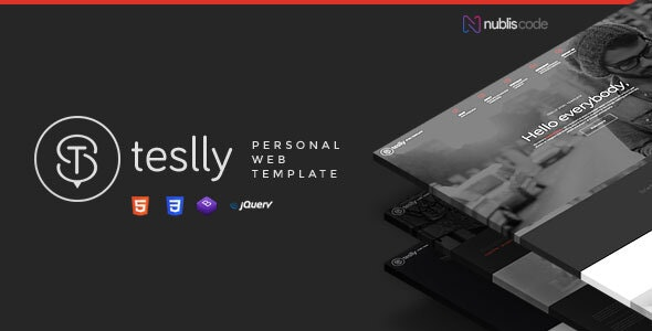 Teslly Personal Web - Creative Site Templates