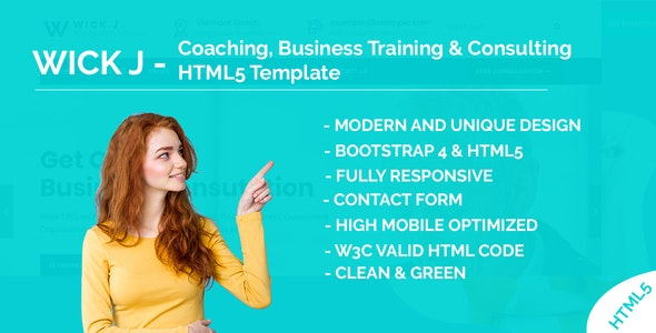 WickJ - Coaching, Business Training & Consulting HTML5 Template by hirotheme