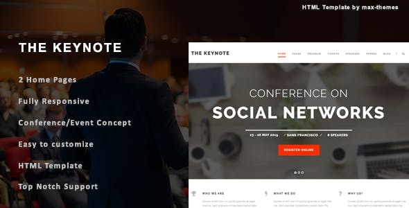 The Keynote - Conference/Event HTML Template
