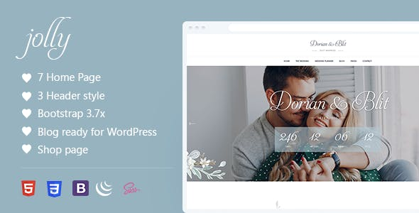 Download Jolly - Wedding & Wedding Planner HTML Template
