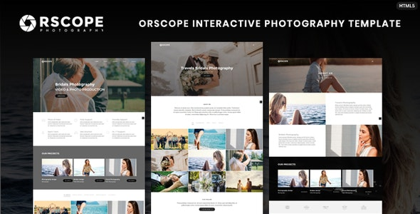 Orscope Interactive Photography Template - Photography Creative