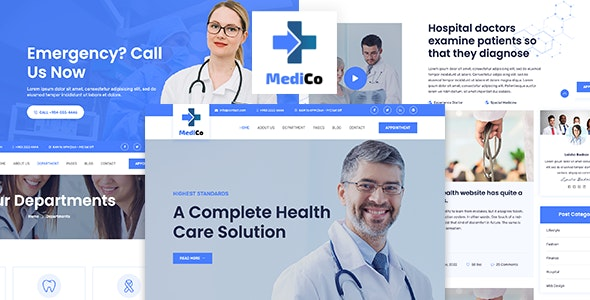 MediCo - Medical and Health Bootstrap Template - Health & Beauty Retail