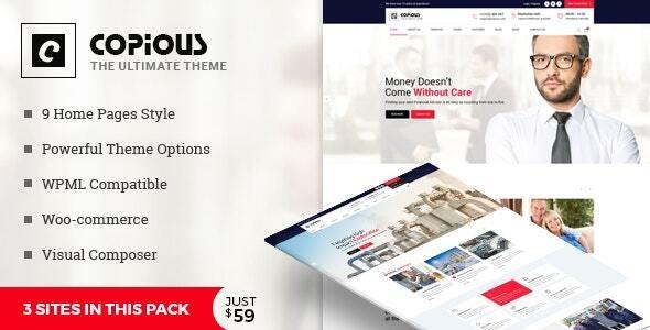Copious - Multiuse WordPress Theme - Business Corporate