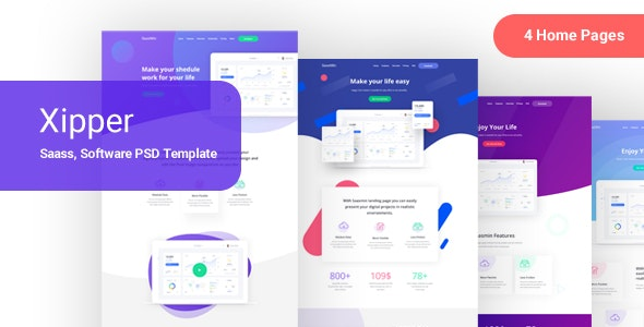 Xipper –  PSD Landing Page Template for App & Saas Products - Software Technology