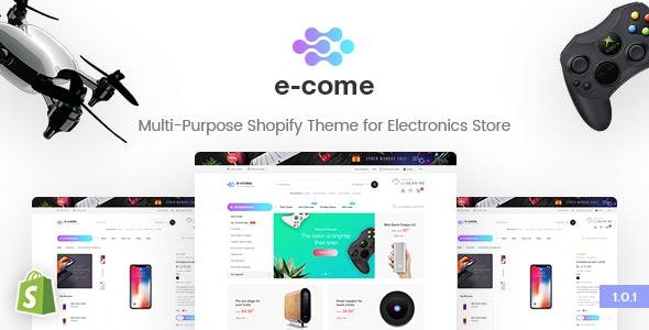 E-come | Multi-Purpose Shopify Theme for Electronics Store - Shopify eCommerce