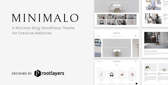 Minimalo - A Minimal Blog WordPress Theme for Creative Websites - Personal Blog / Magazine