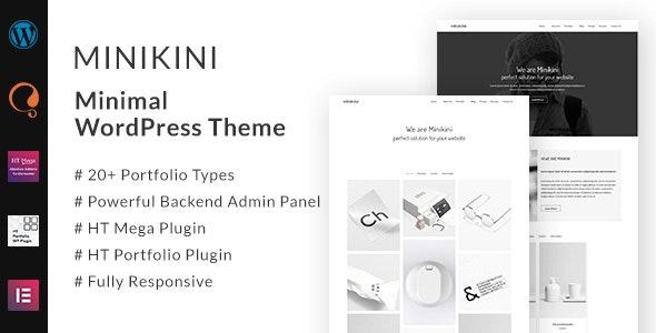Minikini - Minimal Portfolio WordPress Theme - Portfolio Creative