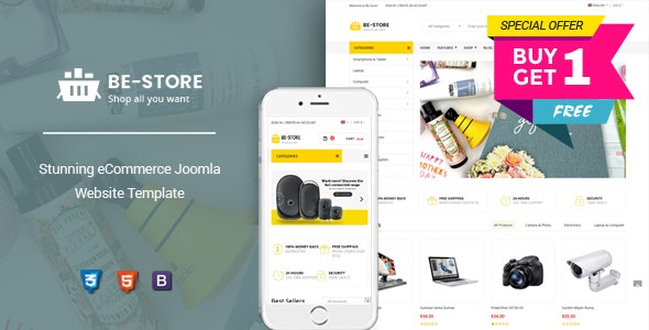 BeStore - Multipurpose Joomla eCommerce Template - VirtueMart Joomla
