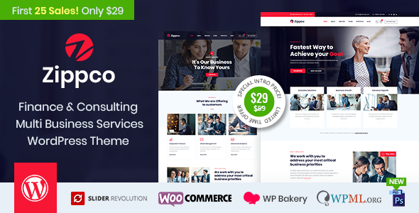 Zippco - Business and Finance Consulting WordPress Theme - Business Corporate
