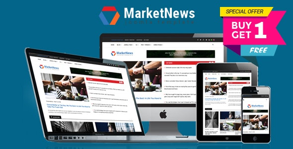 MarketNews - Responsive Financial & Business News Joomla Template - Blog / Magazine Joomla