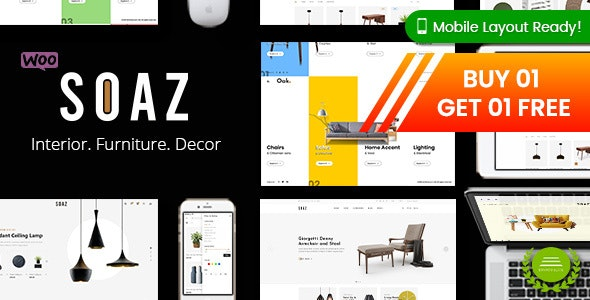 Soaz - Furniture Store WordPress WooCommerce Theme (Mobile Layout Ready) - WooCommerce eCommerce