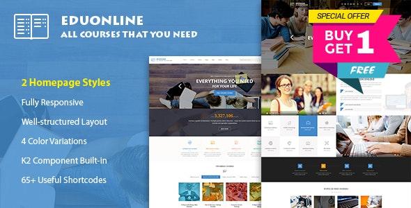 Eduonline - Education & University Joomla Template - Corporate Joomla