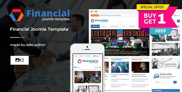 Financial II - Responsive Financial Joomla Theme - News / Editorial Blog / Magazine