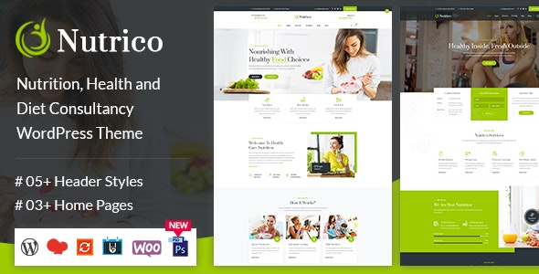 Nutrico - Nutrition Health Services WordPress Theme - Health & Beauty Retail