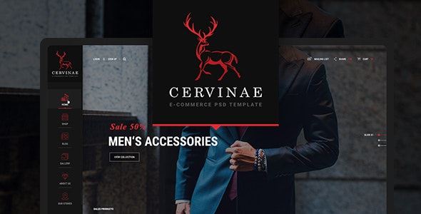 Cervinae - Modern E-commerce Website Template - Fashion Retail