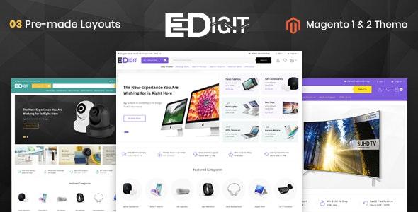 eDigit - Responsive Magento 1 & 2 Theme by TemplateMela | ThemeForest