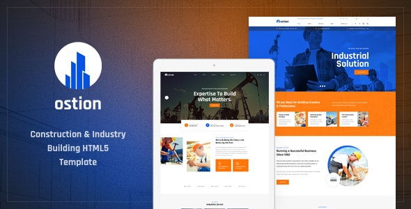 Ostion - Construction & Industry Building Company HTML5 Template by Layerdrops