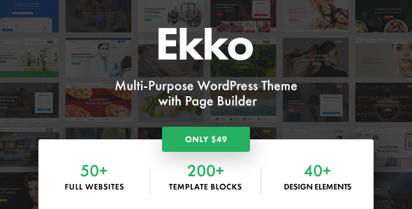 Ekko - Multi-Purpose WordPress Theme with Page Builder - Business Corporate