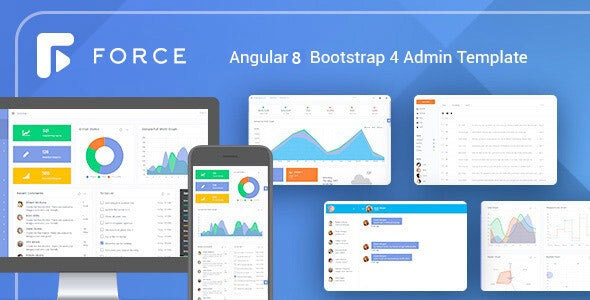 Angular 8 Admin Template with Bootstrap 4 - Admin Templates Site Templates