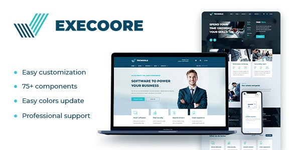 Execoore - Technology And Fintech Theme - Business Corporate