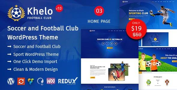 Khelo - Soccer & Football Club WordPress Theme nulled theme download