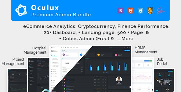 Oculux Mega Bundle - Responsive Admin Dashboard Template & ui kit - Admin Templates Site Templates
