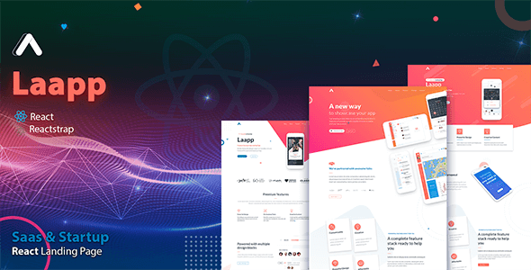 Laapp - React App Landing Page - Software Technology
