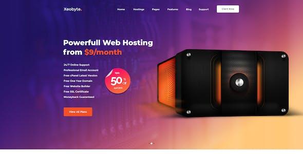 Xeobyte - The Hosting PSD Web Template