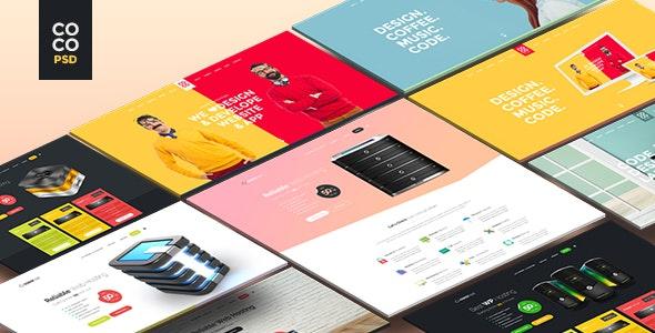 Coco | Creative Hosting Mobile App Personal PSD - Creative Photoshop