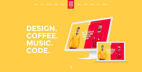 Coco | Creative Hosting Mobile App Personal PSD