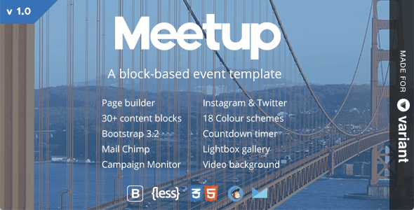 Meetup | Conference & Event Landing With Page Builder - Events Entertainment