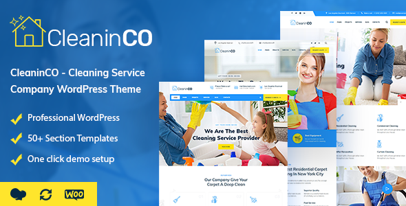 CleaninCO - Cleaning Service Company WordPress Theme - Business Corporate