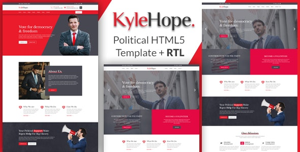 KyleHope - Political Campaign/Activities HTML Template - Political Nonprofit