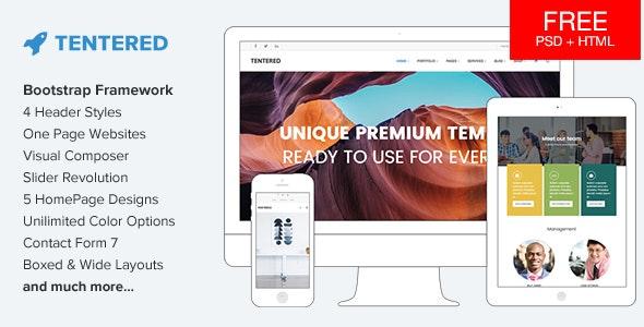 Tentered - Multi Purpose WordPress Theme - Corporate WordPress
