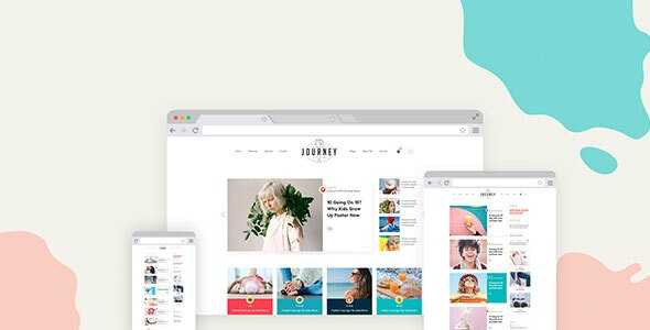 JOURNEY-Fashion & Lifestyle Blog PSD Template - PSD Templates