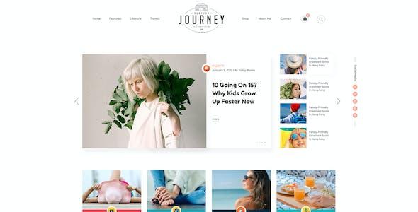 JOURNEY-Fashion & Lifestyle Blog PSD Template