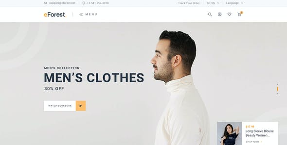 eForest - Clean, Minimal eCommerce PSD Template